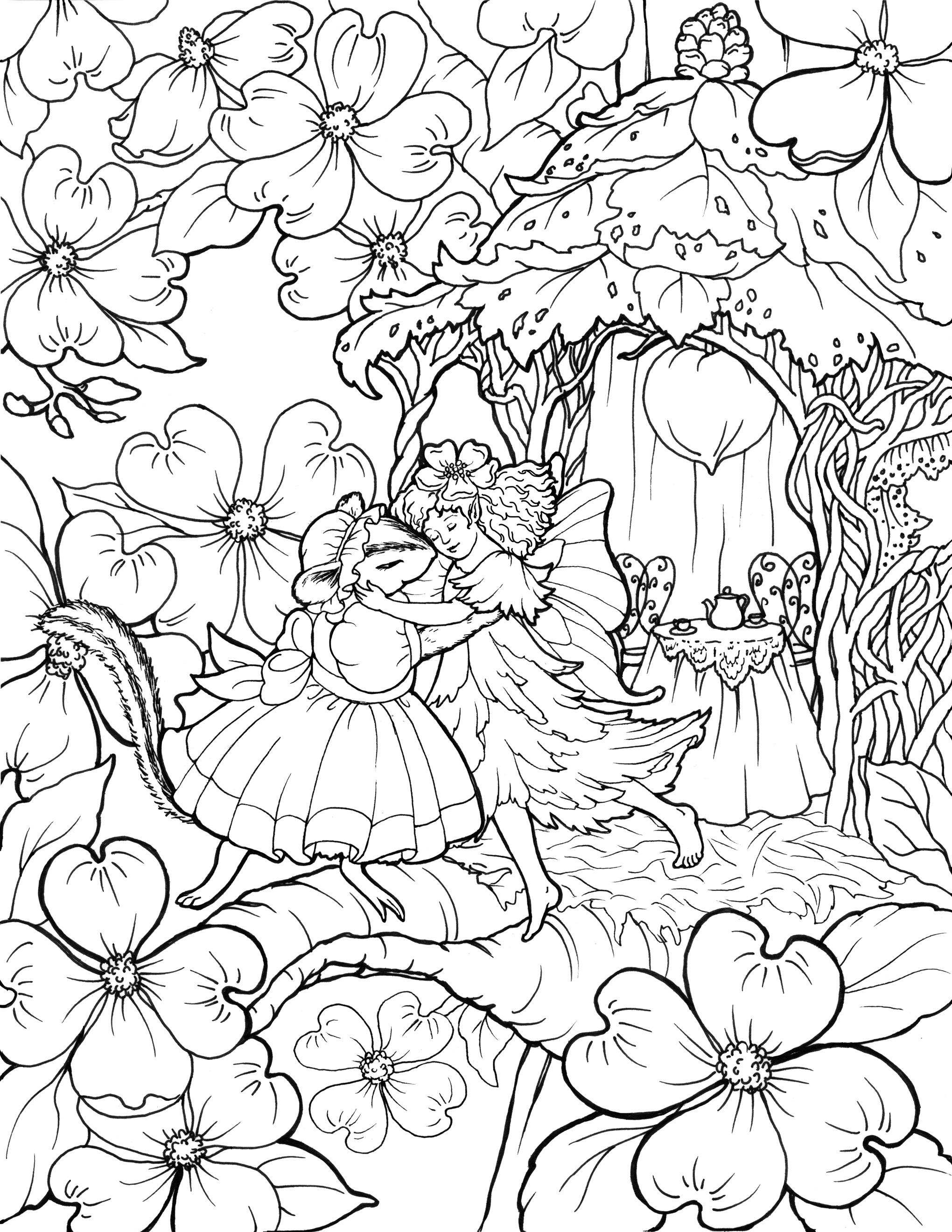 2040x2640 Enjoy Fairy Coloring Pages In Fairy World
