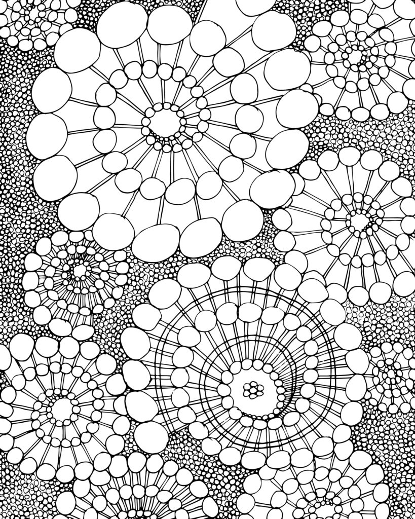 819x1024 Free Spiral Design Adult Coloring Page Adult Colouring Free