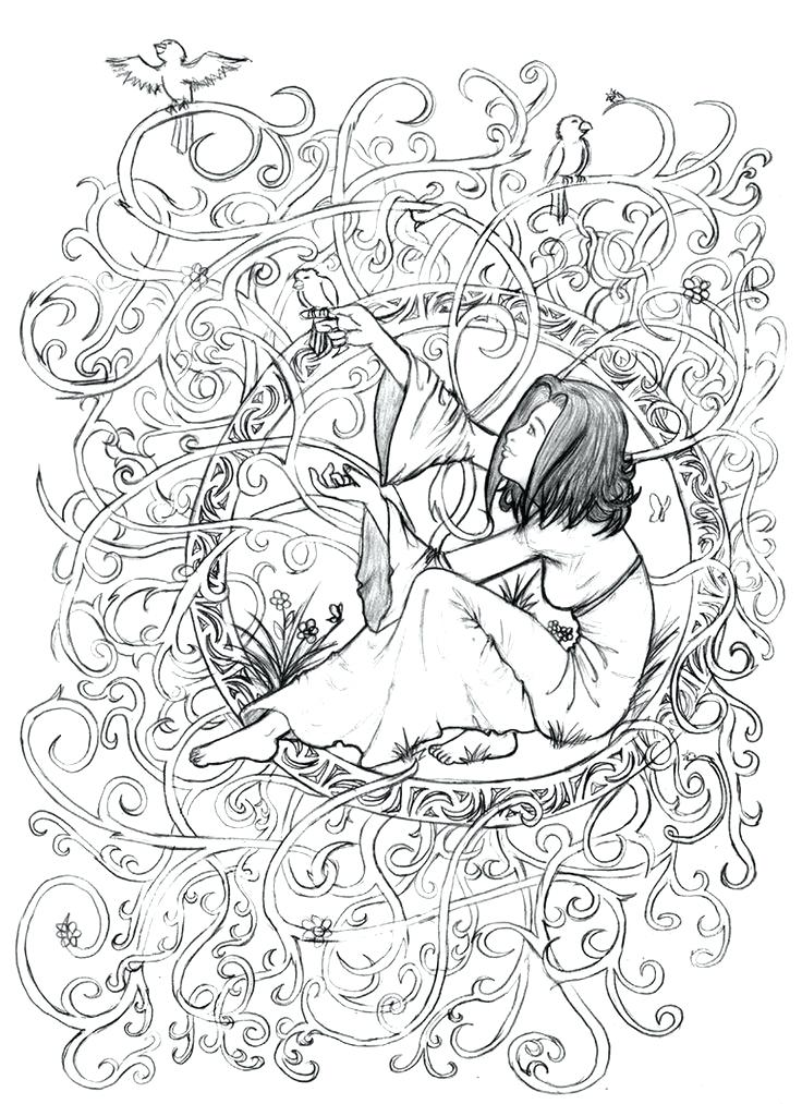 736x1013 Printable Adult Coloring Pages Art Adult Coloring Books Art