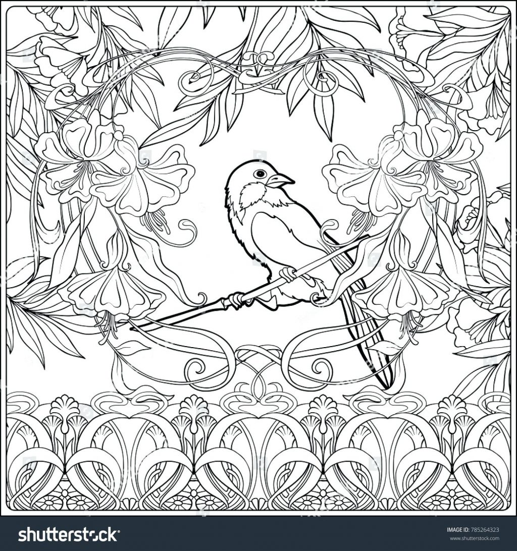 1024x1092 Coloring Page Art Nouveau Coloring Pages Sheets For Adults Art