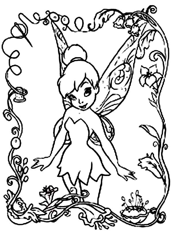 615x811 Fairy Coloring Pages For Kids Free Printable Disney Fairies