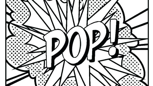 500x280 Pop Art Coloring Pages Printable Coloring Page