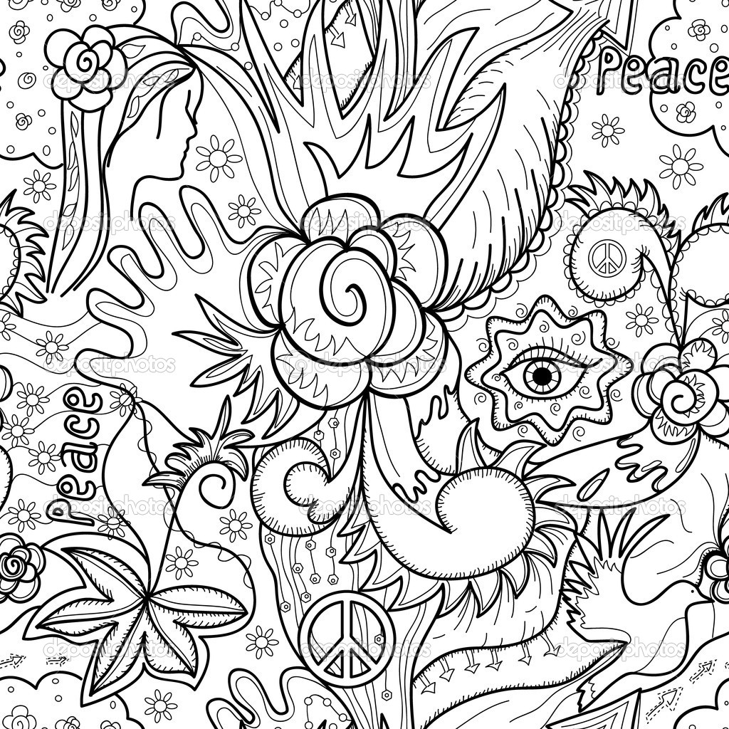 1024x1024 Abstract Coloring Pages For Teenagers Difficult Art