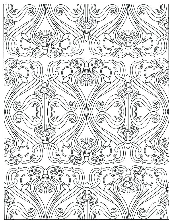 603x770 Art Deco Coloring Pages Traditional Art Co Coloring Pages Free