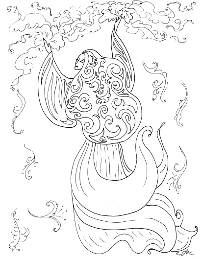 410x529 Art Nouveau Coloring Pages S Mac's Place To Be