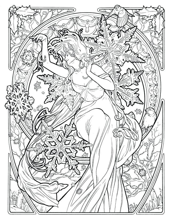 736x921 Art Nouveau Coloring Pages