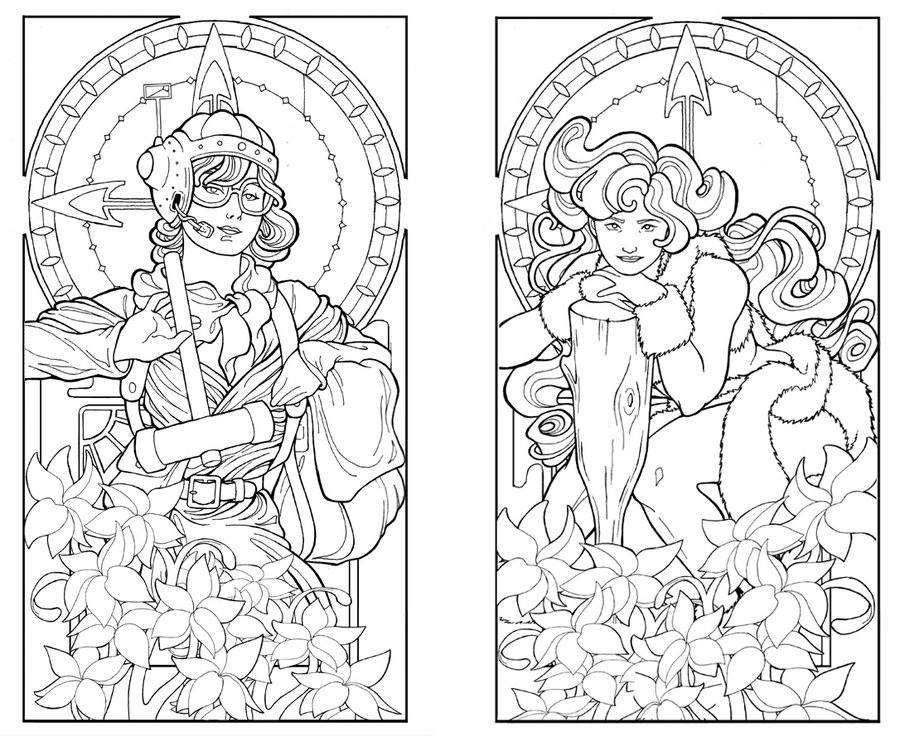 900x742 Art Nouveau Coloring Pages Fancy Art Deco Coloring Pages