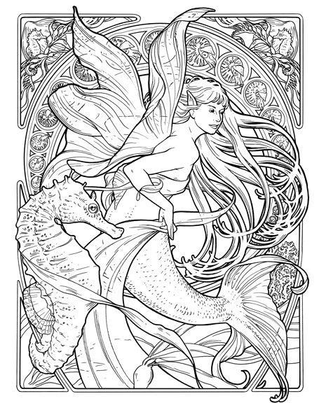 455x576 Art Nouveau Coloring Pages Herb Leonhard