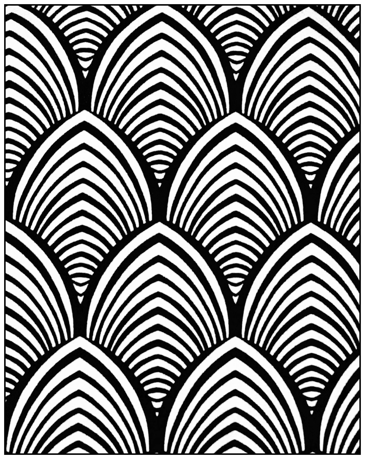 1233x1547 Geometric Patterns Art Deco