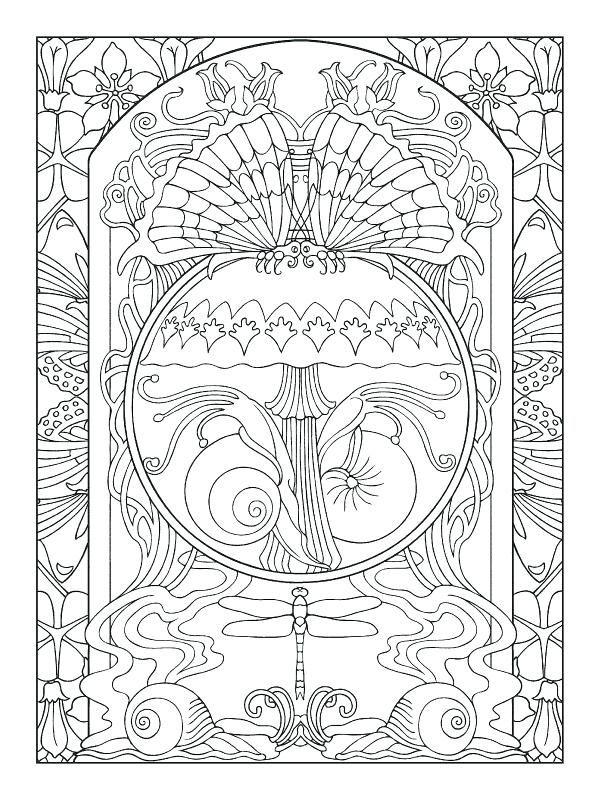 600x800 Art Nouveau Coloring Book And Art Coloring Pages Art Nouveau