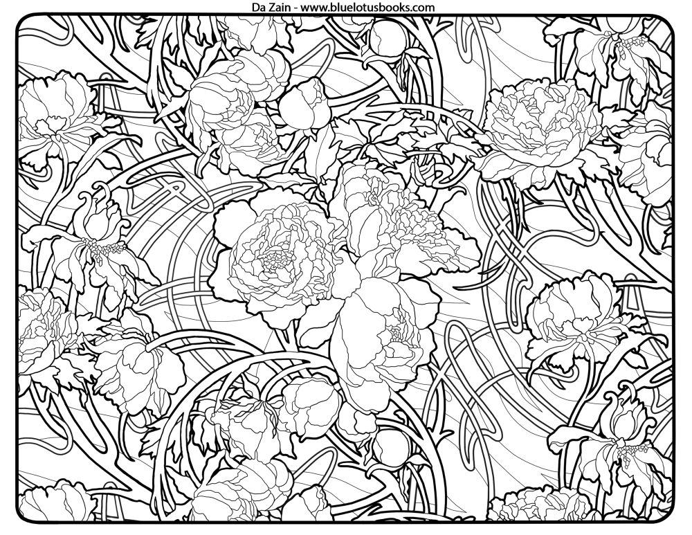 1000x773 Art Nouveau Coloring Pages Get This Art Deco Patterns Coloring