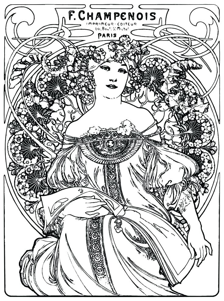 736x988 Art Deco Coloring Pages As Awe Inspiring Perfect Art Coloring