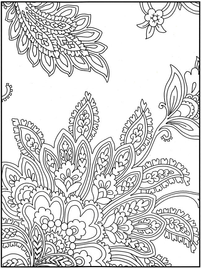 650x872 Easy Paisley Coloring Pages