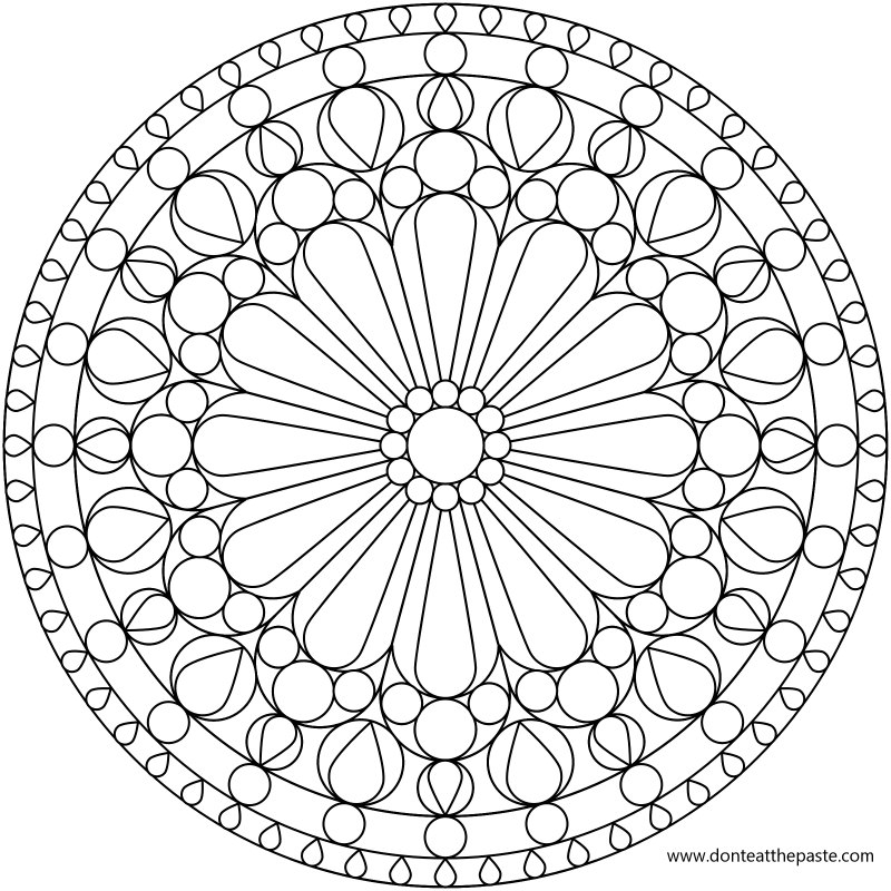 800x800 Geometric Design Coloring Pages