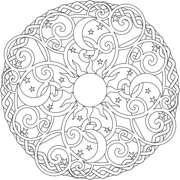 600x600 Patterns Coloring Pages Mandala Coloring Page Printable Tree