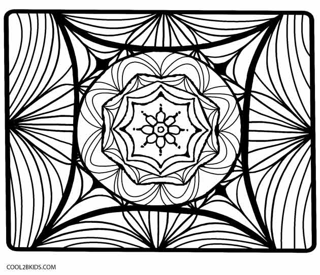 630x543 Printable Kaleidoscope Coloring Pages For Kids