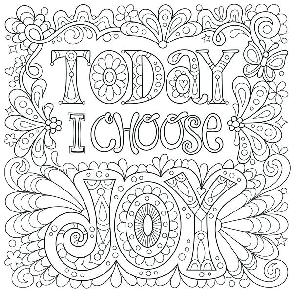 600x604 Free Design Coloring Pages