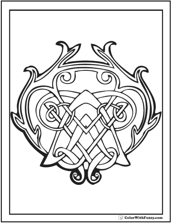 590x762 Celtic Coloring Pages Irish, Scottish, Gaelic