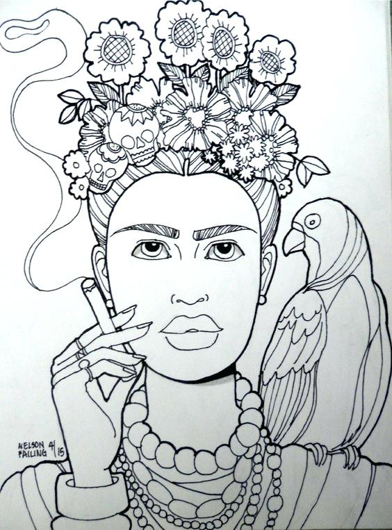 564x763 Inspirational Frida Kahlo Printable Coloring Pages And Art History