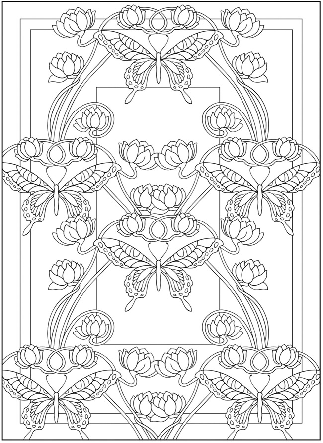 650x890 Trend Art Deco Coloring Pages In Coloring Books With Art Deco