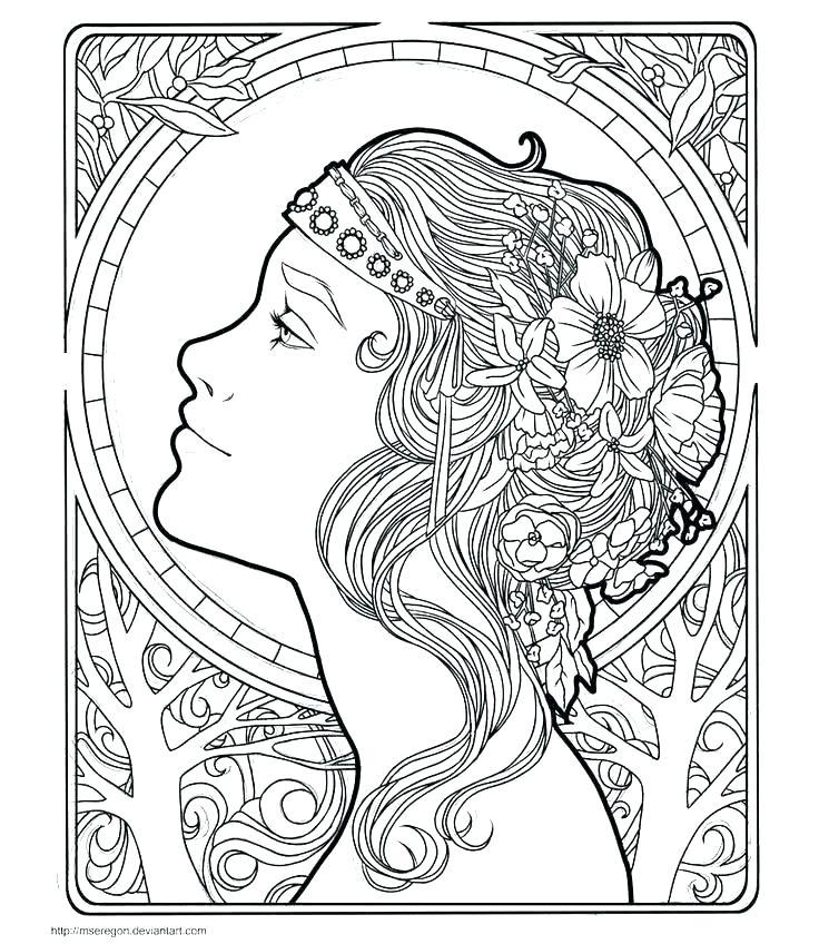 Art Nouveau Coloring Pages At Getdrawings Com Free For Personal