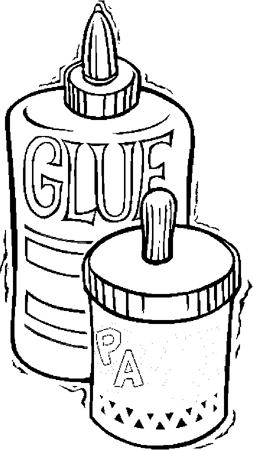 506x900 Glue Paste Coloring Page