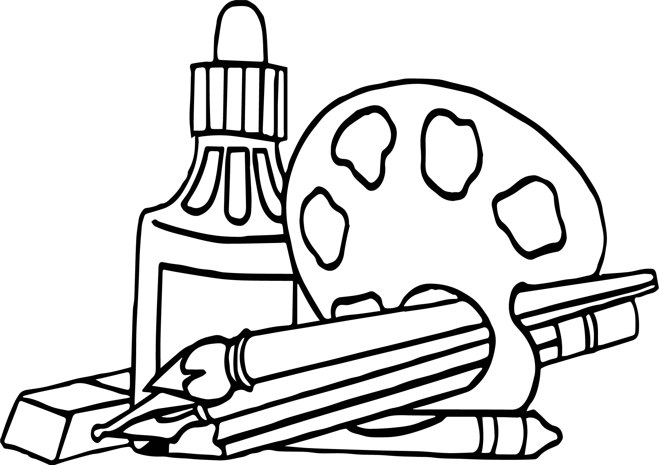 2106x1487 Nap Art Supplies Coloring Page Wecoloringpage