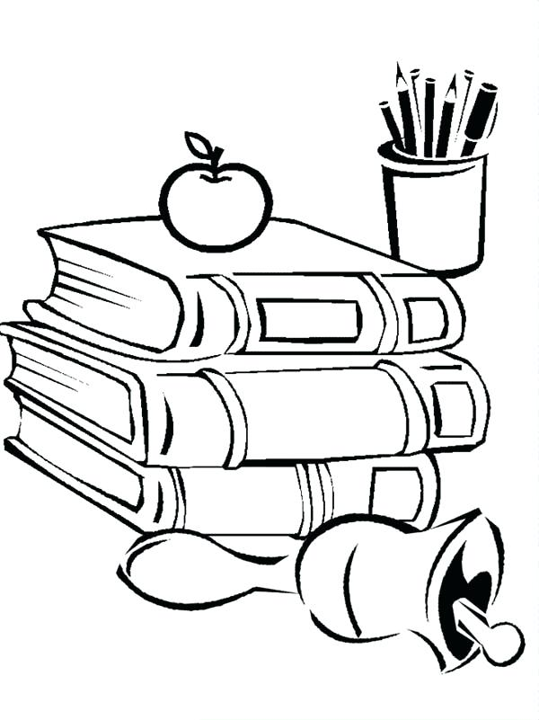 600x801 School Supplies Colouring Pages Art Coloring Free Download Best