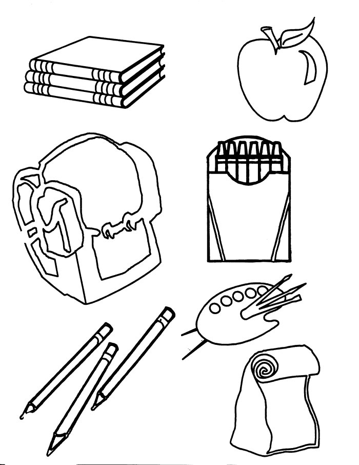 700x906 School Tools Coloring Pages