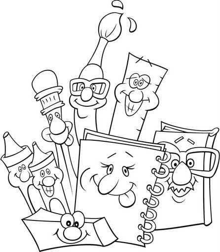 446x512 Back To School Supplies Free Coloring Pages For Kids Tapas Cole