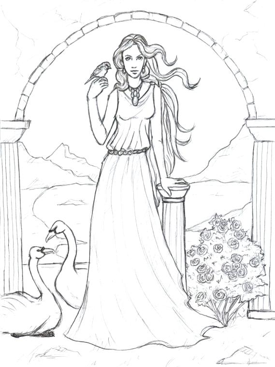 569x757 Mythology Coloring Pages Mythology Coloring Pages Goddess Coloring