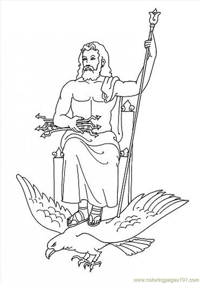 650x919 Zeus Greek God Coloring Pages Zeus Greek
