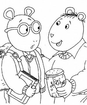 300x363 Arthur And Friends Arthur And Friends Coloring Book