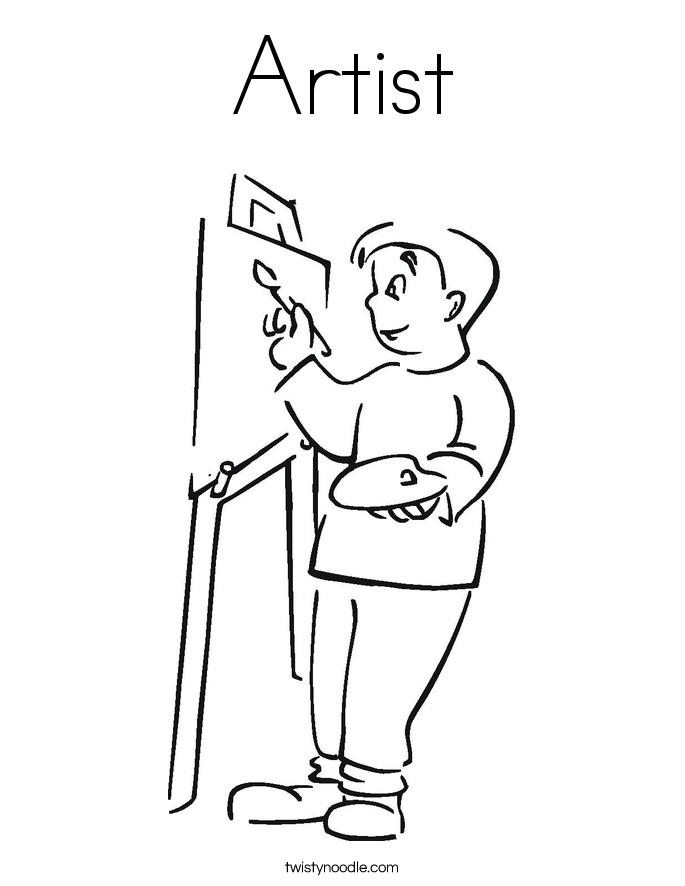 685x886 Artist Coloring Pages