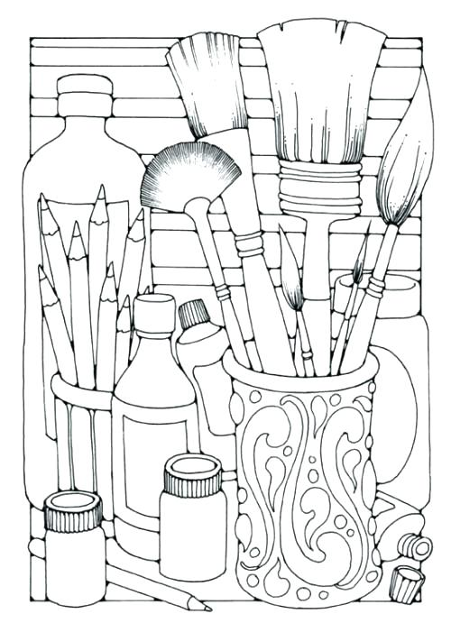500x701 Bold Idea Artist Coloring Pages Printable Info Free Coloring Page