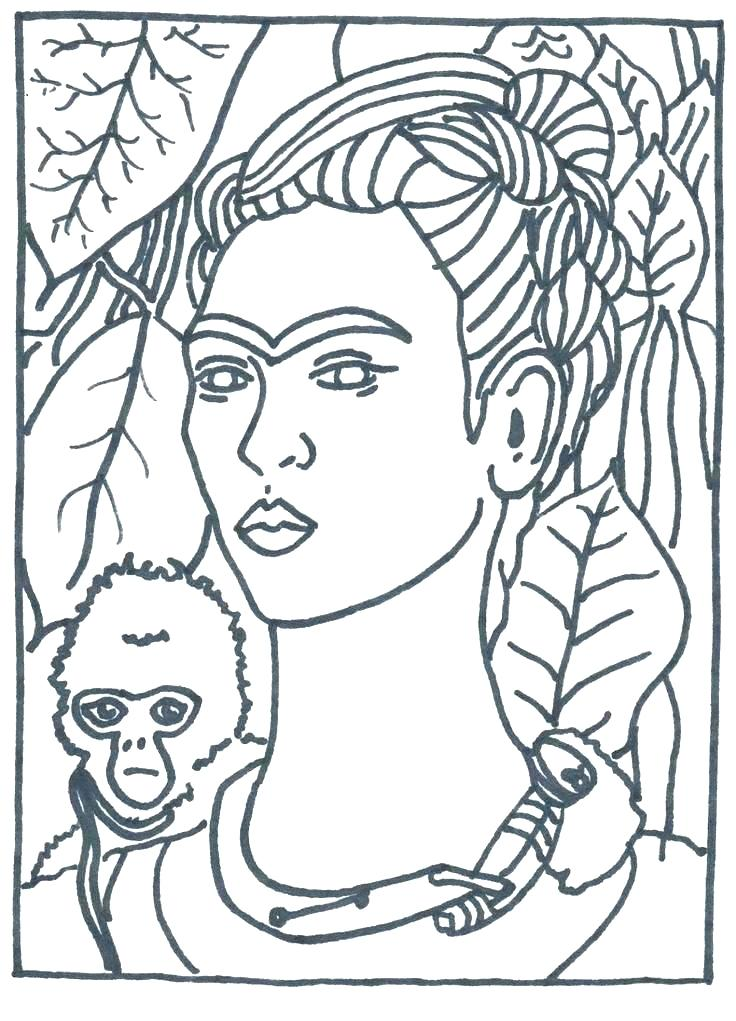 736x1021 Famous Artist Coloring Pages Artistic Coloring Pages Advanced