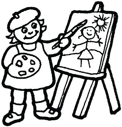 471x490 Famous Artists Coloring Pages Artist Coloring Books As Well As
