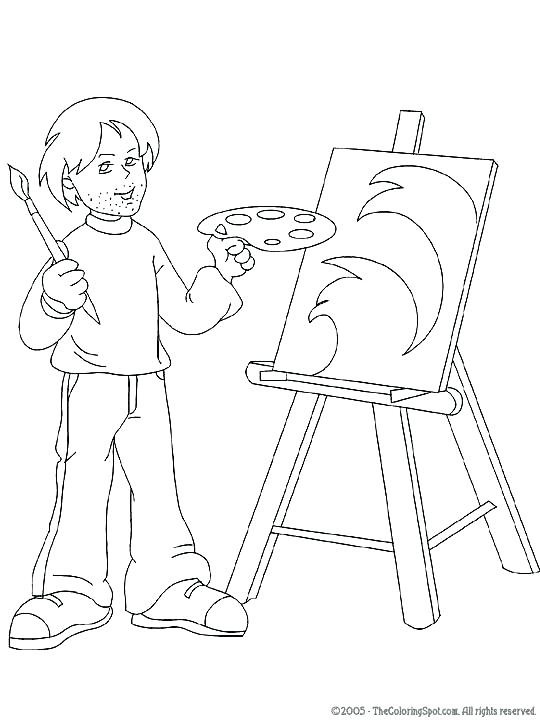540x720 Artist Coloring Page Art Coloring Page Art Coloring Pages For Kids