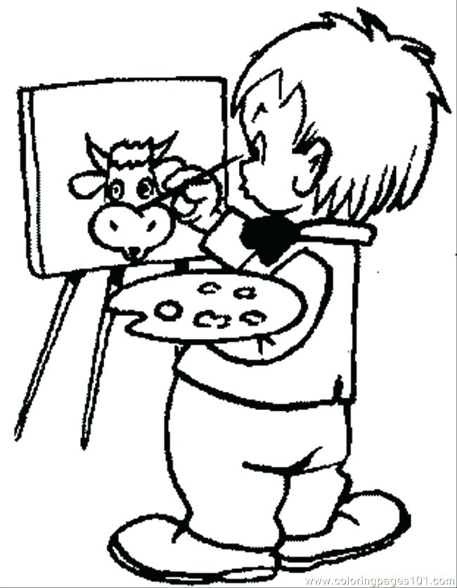650x836 Artist Coloring Page Artist Coloring Books Also Painting Coloring