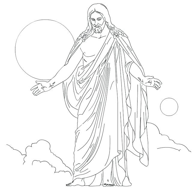 640x640 Jesus Christ Coloring Pictures Ascension Of Coloring Pages Jesus