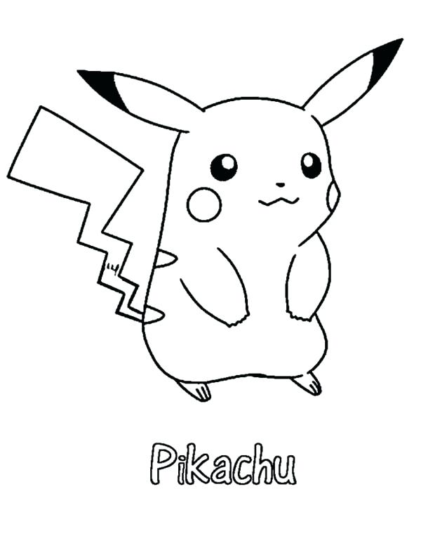 600x790 Pikachu Coloring Page Interesting Coloring Pages With Additional