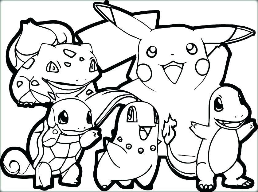 840x626 Pikachu Coloring Pages