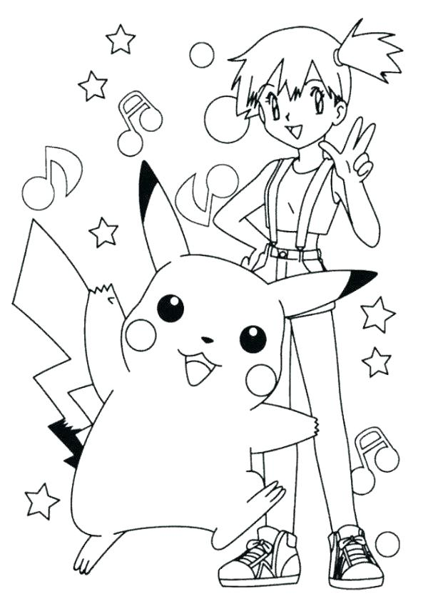 600x850 Pikachu Coloring Pages Pdf Ash And Page Sketch P