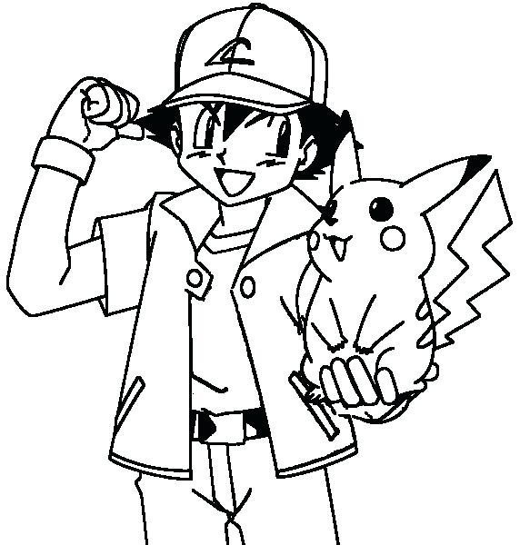 572x600 Pokemon Coloring Pages Pikachu Coloring Page Little Coloring Pages