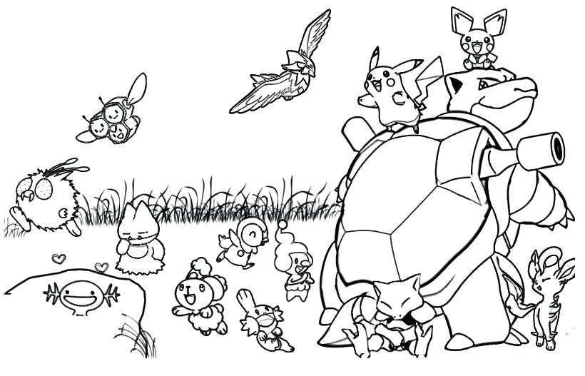 820x527 Pokemon Coloring Pages Pikachu Coloring Page Pages Free Elephant