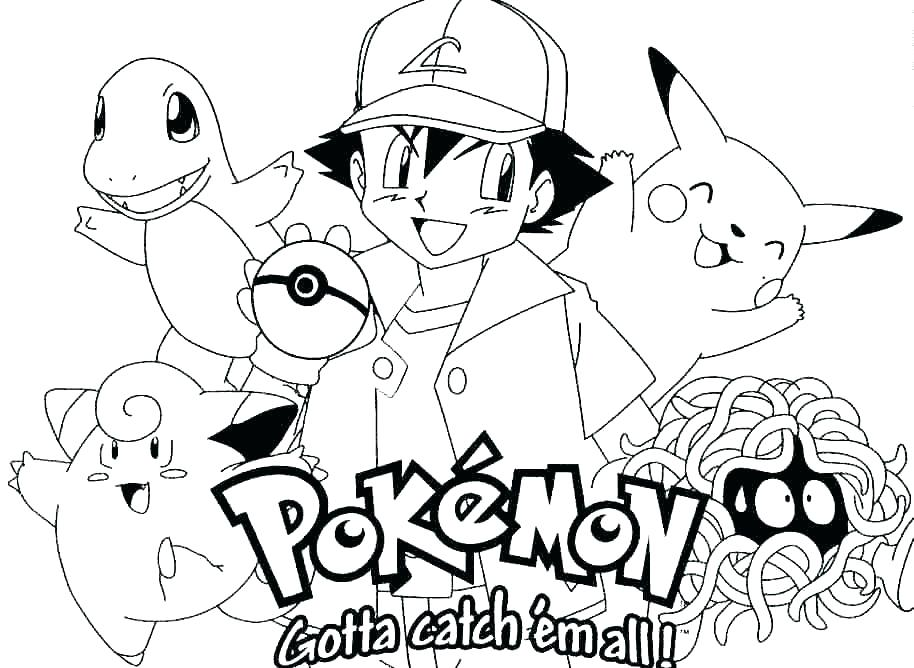 914x668 Ash And Pikachu Coloring Pages Coloring Page Color Pages Coloring