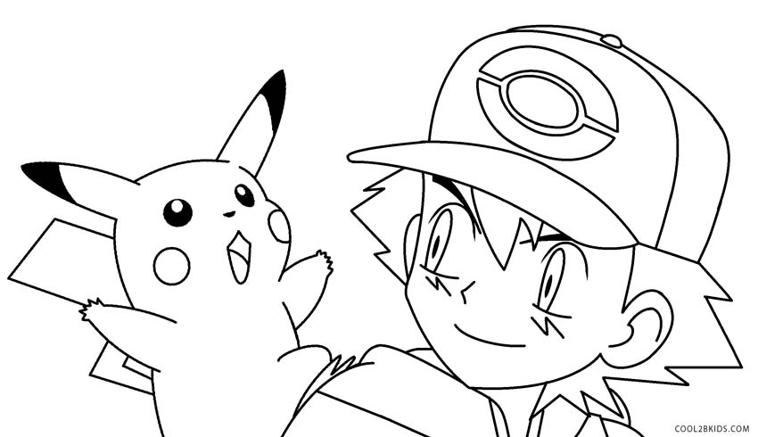 850x490 Printable Pikachu Coloring Pages For Kids