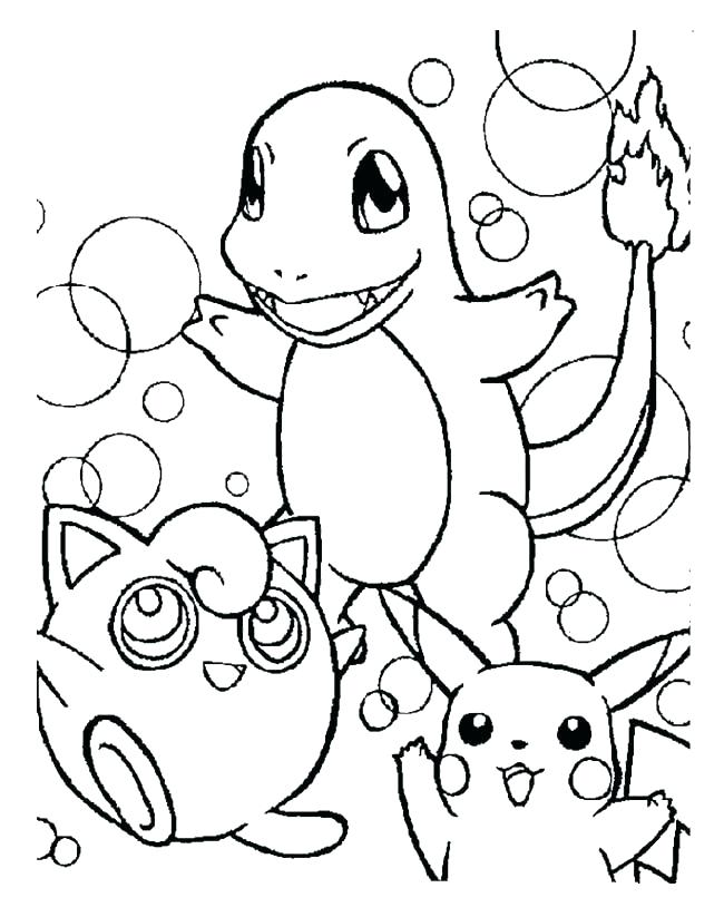 650x823 Pikachu Coloring Pages