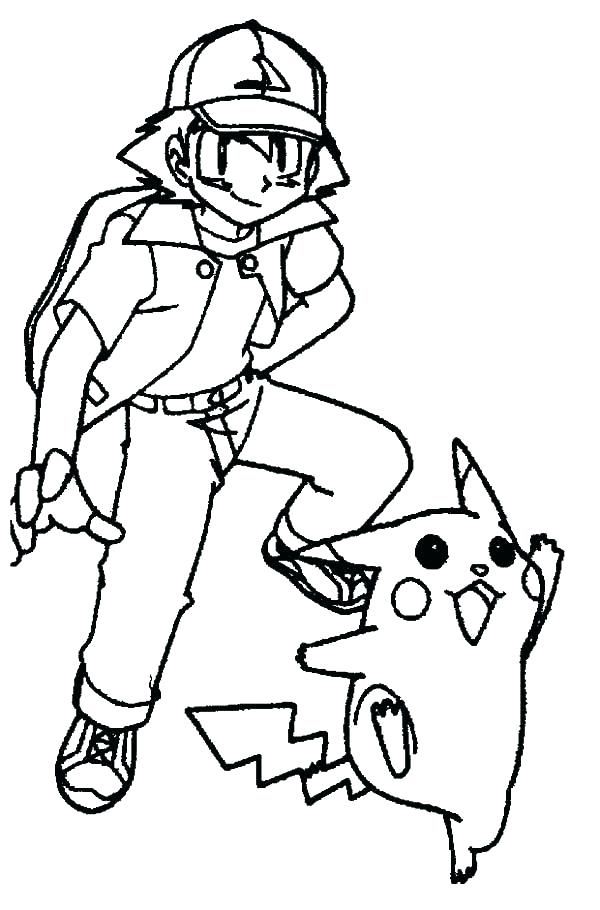 600x910 Pikachu Coloring