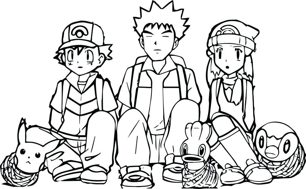 1024x633 Pokemon Ash Pikachu Coloring Pages Free
